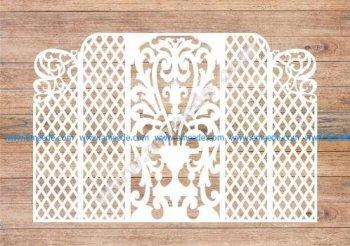 Wedding Screen, Wedding Arch Lase Cut