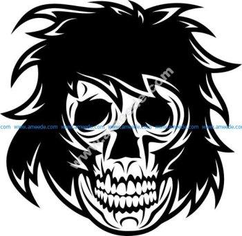 Head Skull Vector Illustration Stock Vector
