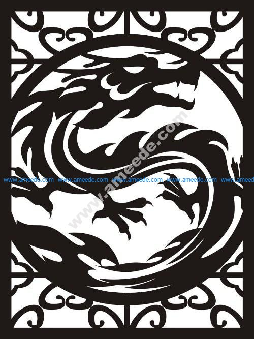 Dragon  partition wall pattern