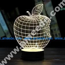 Apple 3D Illusion Lamp LED Night Lights
