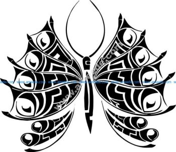 Tattoo Butterfly Illustration