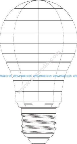 Bulb 3d illusion vector