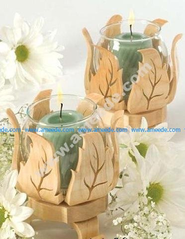 Decorative Foliage Votive Holder