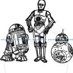 Star Wars 3d illusion lamp vector file