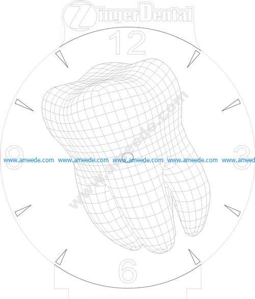 Tooth clock 3d illusion lamp