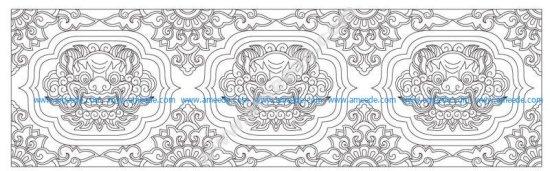 dragon head pattern
