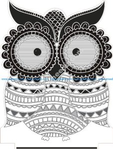 owl illusion led lamp