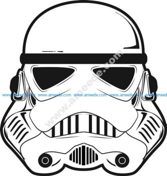 stormtrooper helmet 3d illusion lamp vector file