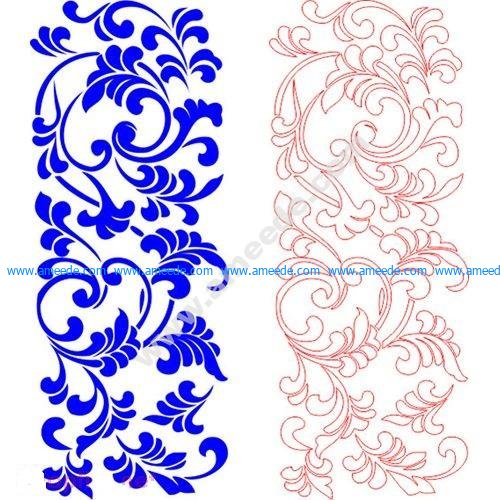 pattern vector cnc carvings 2D11