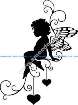 Angel Sticker Free Vector