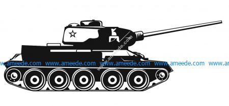 Army Tank Vector Free