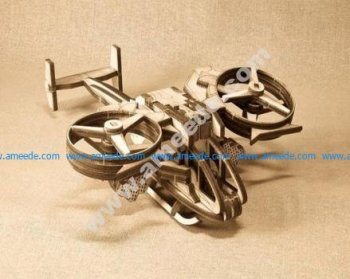 Avatar Scorpion Helicopter Laser Cut