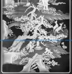 CNC Relief Ancient landscape scenery BMP