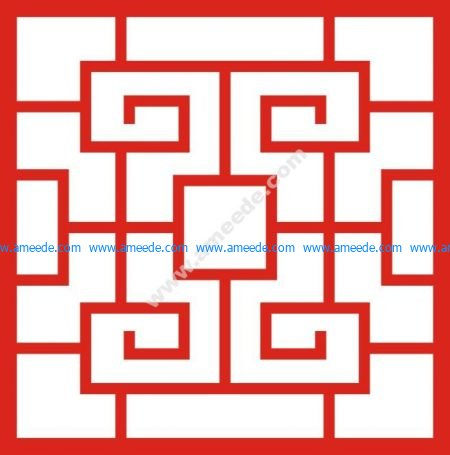 Chinese style doorway pattern
