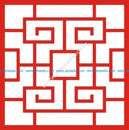 Chinese style doorway pattern