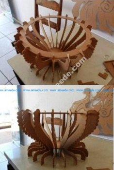 Fruit Bowl CNC Cut