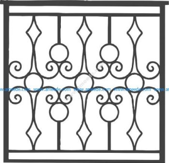 Iron Grille Gate