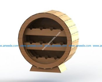 Laser Cut Wine Rack 6mm