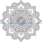 Mandala Floral Design Free Vector
