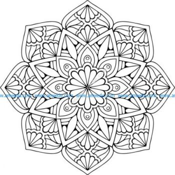 Mandala Floral EPS