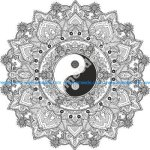 Mandala Yin Yang Free Vector