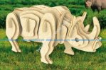 Rhino 3D Puzzle Laser Cut CNC Plans Free Vector