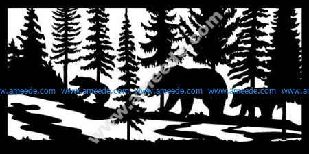 Three Bears River Plasma Metal Art DXF