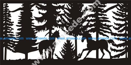 Wildlife Metal Art Panel DXF