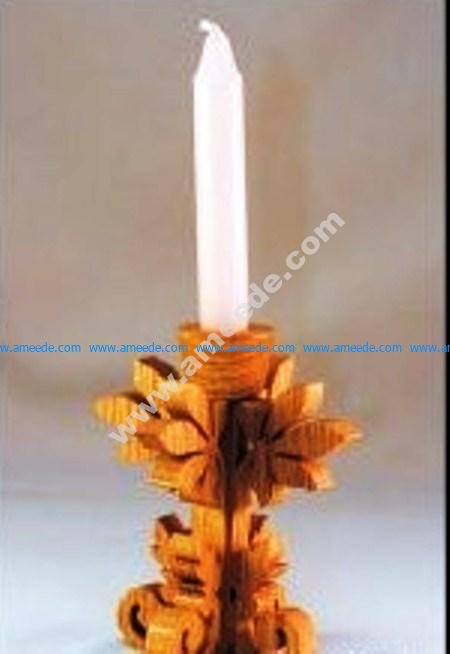 candles made of wood