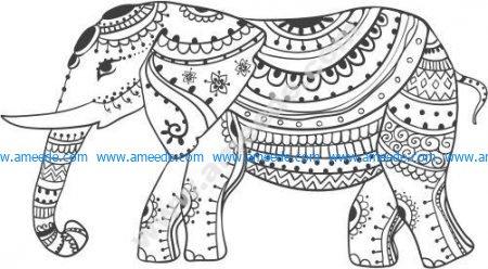 vector elephant figurines