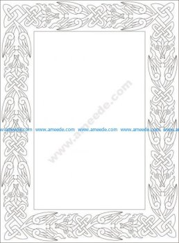 Celtic frame pattern