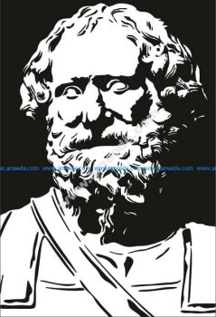 Archimedes of Syracuse Vector Pattern