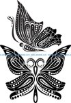 Beautiful Butterfly Tattoo Artistic Pattern