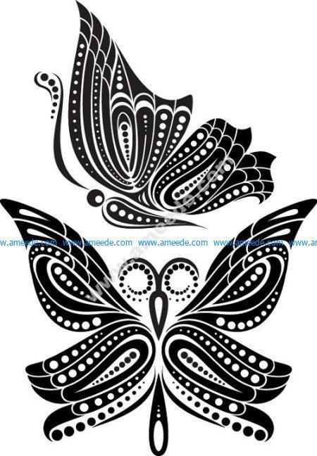 Beautiful Butterfly Tattoo Artistic Pattern