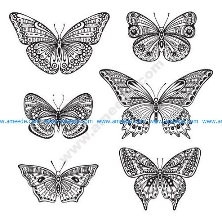 Butterfly Ornate Doodle