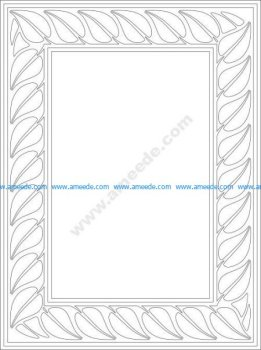 Conventionalized leaf border vector
