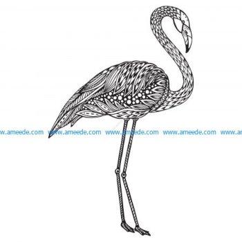 Flamingo Zentangle Stylized