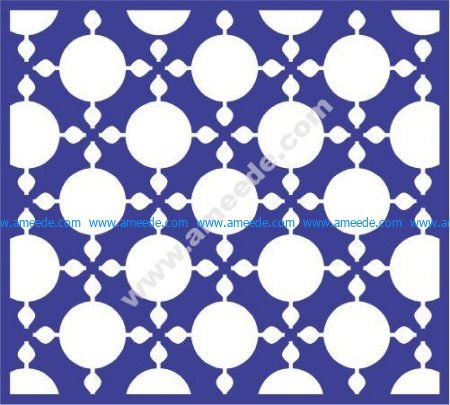 Round ball dot window pattern