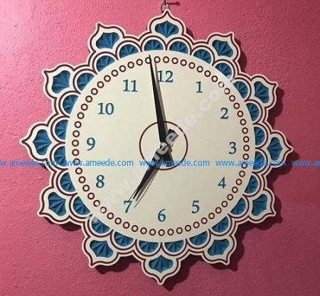 Sun-shaped wall clock