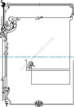 Title page border in Art Nouveau style