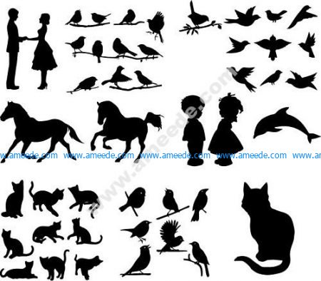 Various Silhouettes Set