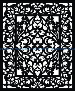 Vectorized fretwork pattern