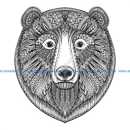 Zentangle Bear