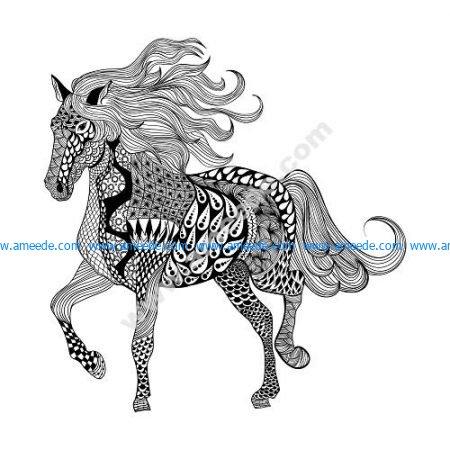 Zentangle Horse