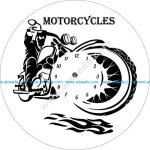 motorcycles wall clock