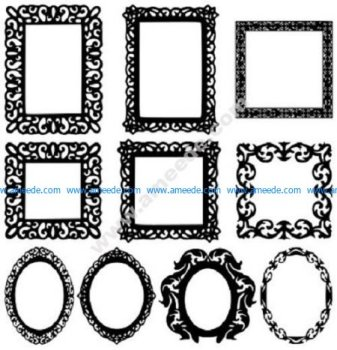some patterns of picture frames and photo frames