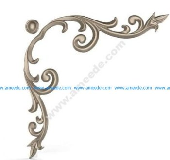 3D wood corner decoration
