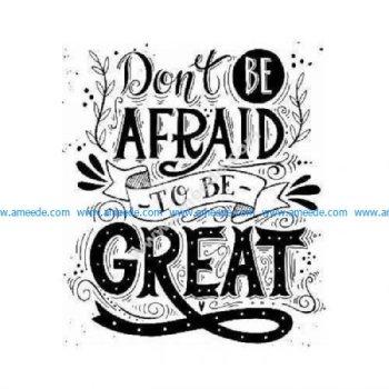 Be great quote plaque