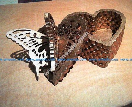 Butterfly Heart Box