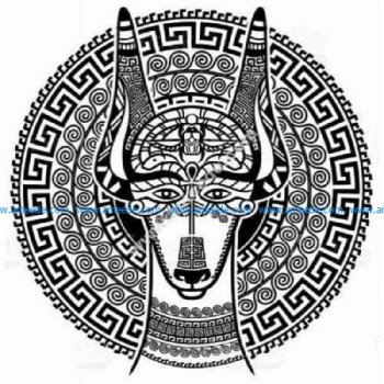 Celtic tribal Egyptian dog Sphinx